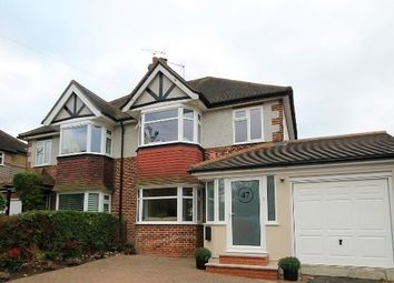 Thumbnail 3 bed semi-detached house for sale in Roundwood Way, Banstead