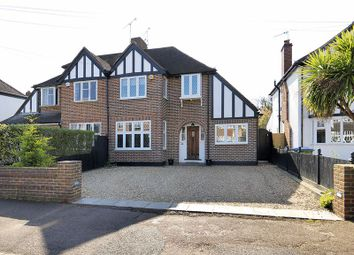 Thumbnail 4 bed semi-detached house for sale in Manor Drive, Hinchley Wood