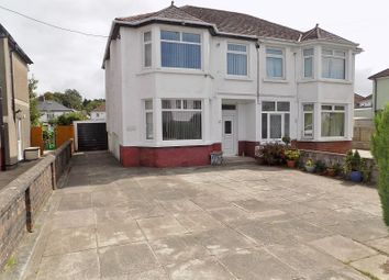 Thumbnail 4 bed semi-detached house for sale in Heol Gam, Bridgend