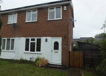 Thumbnail 2 bedroom town house to rent in Birches Close, Burton On Trent, Staffs