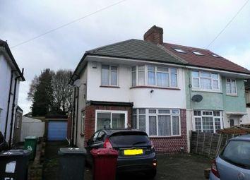 Thumbnail 3 bed semi-detached house to rent in Cranbourne Road, Cippenham, Slough