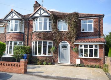 Thumbnail 4 bed semi-detached house for sale in Wilcott Road, Gatley, Cheadle