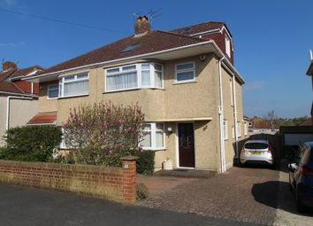 Thumbnail 4 bed semi-detached house for sale in Woodleigh Gardens, Whitchurch, Bristol