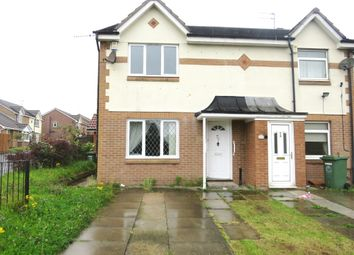 Thumbnail 4 bed end terrace house for sale in Brecongill Close, Hartlepool