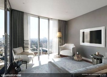 Thumbnail 1 bed flat for sale in Sky Gardens, 155, Wandsworth Road, London