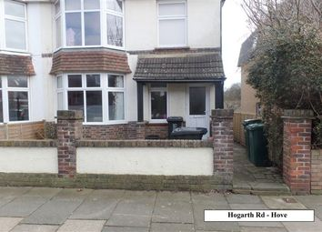 Thumbnail 2 bed semi-detached house to rent in Hogarth Road, Hove, East Sussex