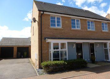 Thumbnail 3 bedroom semi-detached house for sale in Stonewort Avenue, Hampton Vale, Peterborough