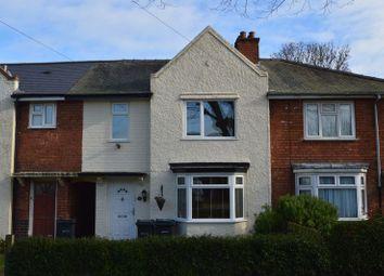 Thumbnail 3 bed town house for sale in Menin Road, Billesley, Birmingham