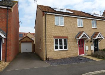 Thumbnail 3 bed semi-detached house for sale in Whitby Avenue, Eye, Peterborough