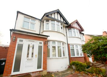 Thumbnail 3 bed semi-detached house for sale in Rossall Crescent, Hanger Lane