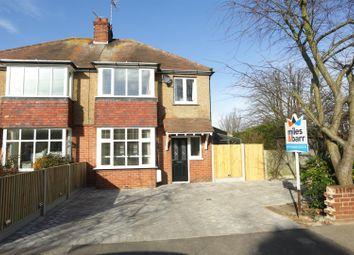 Thumbnail 3 bed semi-detached house for sale in Garrard Avenue, Margate
