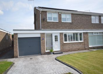 Thumbnail 3 bed semi-detached house for sale in Rede Court, Ellington, Morpeth