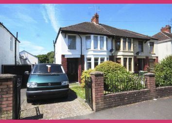 Thumbnail 3 bedroom semi-detached house for sale in Fairways Crescent, Fairwater, Cardiff