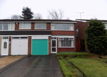 Thumbnail 3 bedroom semi-detached house for sale in Brabham Crescent, Sutton Coldfield, West Midlands
