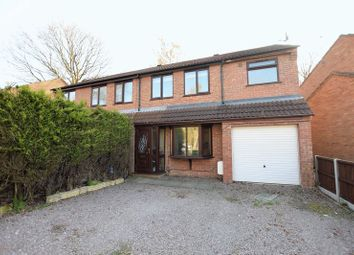 Thumbnail 3 bed semi-detached house for sale in Woodvale Close, Lincoln