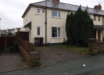 Thumbnail 3 bed end terrace house for sale in Hill Road, Willenhall, West Midlands