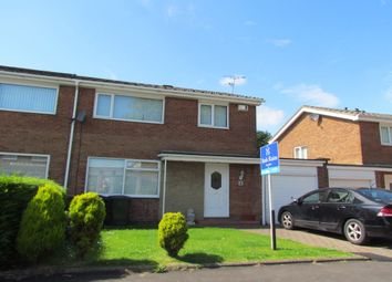 Thumbnail 3 bed semi-detached house for sale in Simon Place, Wideopen, Newcastle Upon Tyne