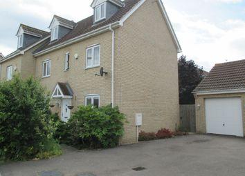 Thumbnail 4 bedroom semi-detached house to rent in Nelson Crescent, Longstanton, Cambridge