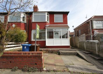 Thumbnail 3 bed semi-detached house to rent in Pine Avenue, Whitefield, Manchester