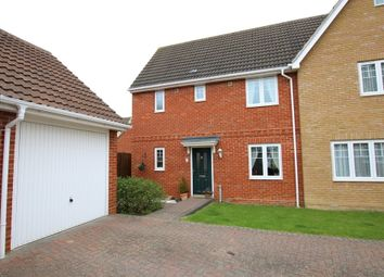 Thumbnail 3 bed semi-detached house for sale in Hazel Close, Dunmow