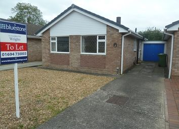 Thumbnail 2 bed semi-detached bungalow to rent in 81 Pyms Road, Wem, Shropshire