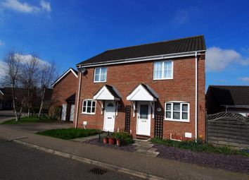 Thumbnail 2 bed semi-detached house for sale in Tortoiseshell Way, Wymondham