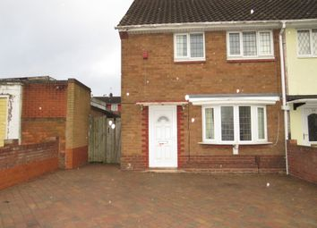 Thumbnail 2 bed end terrace house for sale in Odell Road, Walsall