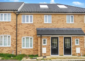 Thumbnail 3 bedroom terraced house for sale in Cutters Close, Beck Row, Bury St. Edmunds