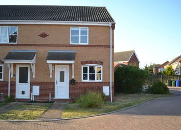 Thumbnail 2 bed end terrace house to rent in Willow Close, Worlingham, Beccles
