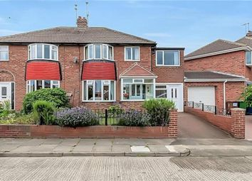 Thumbnail 4 bed semi-detached house for sale in Cumbrian Avenue, Seaburn Dene, Sunderland