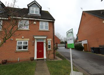 Thumbnail 4 bedroom end terrace house for sale in Sandhills Avenue, Hamilton, Leicester
