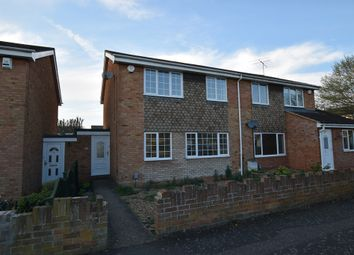 Thumbnail 3 bed semi-detached house for sale in Harlech Road, Bedford, Bedfordshire