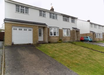 Thumbnail 5 bed semi-detached house for sale in Highfields, Brackla, Bridgend.
