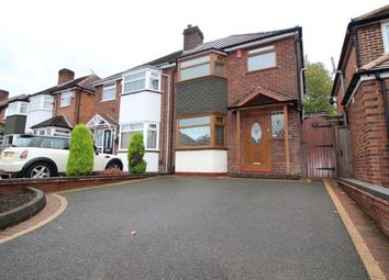 Thumbnail 3 bed semi-detached house to rent in Newborough Road, Shirley, Solihull, West Midlands