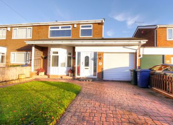 Thumbnail 3 bed semi-detached house for sale in Moorway Drive, Newcastle Upon Tyne