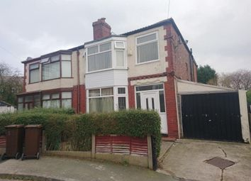 Thumbnail 3 bed semi-detached house to rent in Rathbourne Avenue, Blackley, Manchester