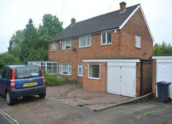 Thumbnail 3 bed semi-detached house to rent in Robert Avenue, Erdington, Birmingham