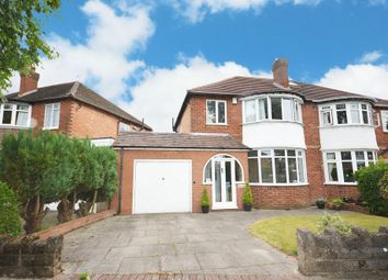 Thumbnail 3 bed semi-detached house for sale in Stonor Road, Hall Green, Birmingham