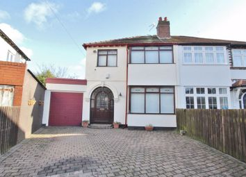 Thumbnail 3 bed semi-detached house for sale in Manor Crescent, Woolton, Liverpool
