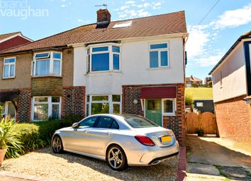 Thumbnail 3 bed semi-detached house for sale in Mackie Avenue, Brighton, East Sussex