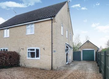 Thumbnail 3 bed semi-detached house for sale in Old Feltwell Road, Methwold, Thetford