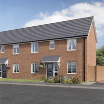Thumbnail 2 bed semi-detached house for sale in Russell Grove, Werrington, Staffordshire