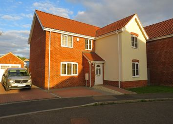 Thumbnail 4 bed detached house for sale in Tortoiseshell Way, Wymondham