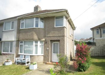 Thumbnail 3 bedroom semi-detached house for sale in Reigate Road, Plymstock, Plymouth