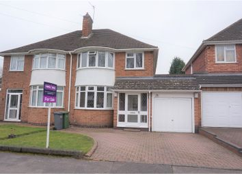 Thumbnail 3 bed semi-detached house for sale in Bramcote Drive, Solihull