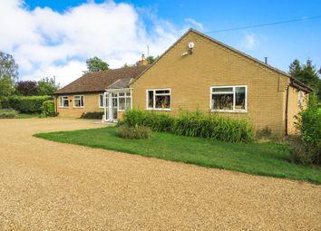 Thumbnail 4 bed detached bungalow for sale in Cross Road, Baston, Peterborough