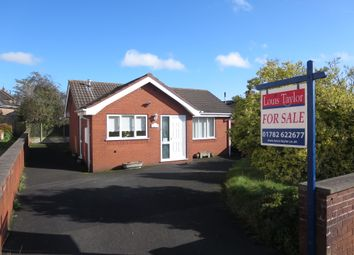 Thumbnail 2 bed detached bungalow for sale in The Bungalow, Crackley Lane, Scot Hay, Newcastle