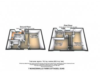 Thumbnail 3 bedroom terraced house to rent in Mungoswall Farm Cottages, Duns, Borders