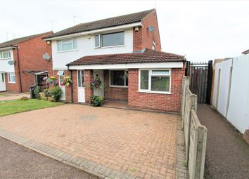 Thumbnail 3 bed semi-detached house for sale in Huggett Close, Rushy Mead, Leicester