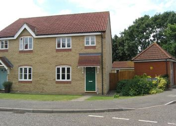 Thumbnail 3 bed semi-detached house to rent in Speedwell Road, Wymondham, Norfolk